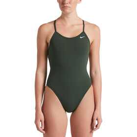 Nike Swim Hydrastrong Soldis Lace Up Tie Back One Piece badpak Dames, galactic jade